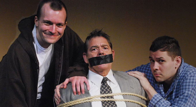 Mike Writtenberry, Todd Taylor, and Dyrk Conrad in <i>Orphans</i> by Lyle Kessler.